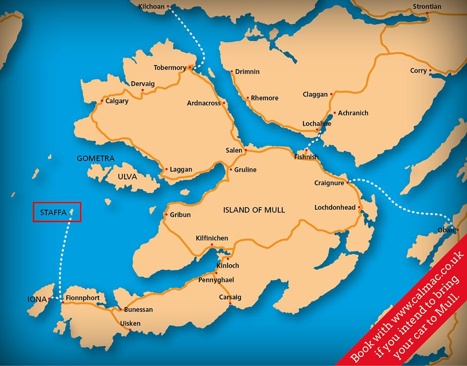 Map  Staffa Trips
